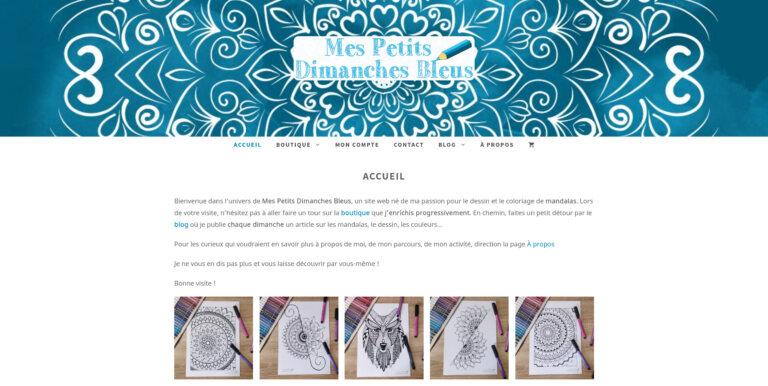 Illustration du site Mes Petits Dimanches Bleus